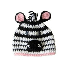 $enCountryForm.capitalKeyWord UK - Adorable Baby Zebra Hat,Handmade Knit Crochet Baby Boy Girl Animal Beanie,Kids Earflap Winter Cap,Infant Newborn Photo Prop