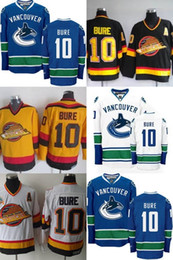 c01eb6e3aa1 ... retro road ccm jerseys stitched affordable bure jersey; hot sale mens  vancouver canucks 10 pavel bure blue black yellow white cheap high quality  100