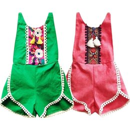 $enCountryForm.capitalKeyWord NZ - Summer Newborn Baby Sleeveless Rompers Baby Clothing Toddler Girls Clothes Vintage Floral Kids Infant Rompers