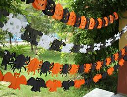 discount spooky halloween decorations spooky halloween garland banner bunting bat pumpkin ghosts spider party decorations party - Discount Halloween Decorations