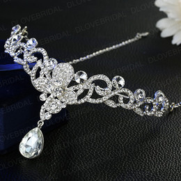 Butterfly hair comB wedding online shopping - Romantic Crystal Butterfly Headband Shinny Fairy Rhinestone Floral Wedding Prom Evening Party Headpieces Jewelry Accessories
