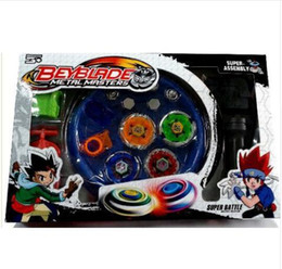 $enCountryForm.capitalKeyWord Canada - Free Shipping 4pcs  Set Beyblade Arena Spinning Top Metal Fight Beyblad Beyblade Metal Fusion Children Gifts Classic Toys 2017