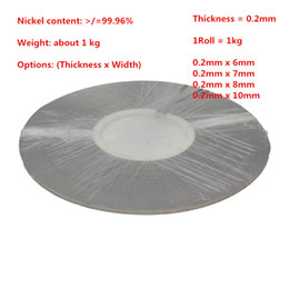 $enCountryForm.capitalKeyWord Canada - Thickness 0.2mm Pure Nickel Plate Strap Strip Sheets 99.96% for battery Spot welding machine Welder Equipment 1kg Roll
