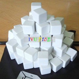 Machine cube online shopping - 20pcs MM Square corners blank dice white Cube game party machine Children dices bosons IVU