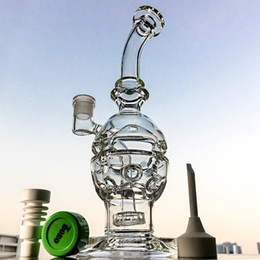 Discount glass oil rig fab - Faberge Fab Egg Recycler Bong Waterpipe Showerhead Perc Dab Oil Rigs Glass Water Bongs Smoking Water Pipes With 14mm Joi