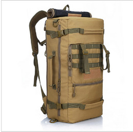 caba476489e5 2016 Hot Military Tactical Backpack Outdoor Sport rucksack Hiking Camping Men  Travel Bags Camouflage Laptop Backpack Local lion