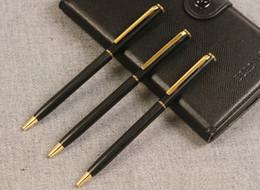 Metal Ballpen UK - Hot Ballpoint Pen Metal Student pens for Writing Fashion Business School Stationery Ballpen Office School Supplies