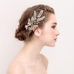 ElEgant hair claws online shopping - beijia Elegant Headpiece Wedding Bridal Hair Claws for women Crystal Rhinestone Wedding Hair Jewelry Accessories Prom Party Gift