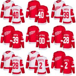af7d52be11b Discount hockey jersey zetterberg 2018 New Season Detroit Red Wings 40  Henrik Zetterberg 42 Martin Frk