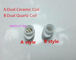 $enCountryForm.capitalKeyWord Australia - Wax Quartz Ceramic Dual Coil Replacement Core Atomizer For Wax Vaporizer Pen Quartz Rod for Elips Cloud Micro donut g Pen