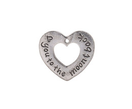$enCountryForm.capitalKeyWord UK - 10 PCS Fashion Antiqued Silver Love Open Heart Charms #92456