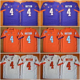 86a178602 ... Kids Clemson Tigers 4 DeShaun Watson Orange White Purple Color Youth  College Football Stitched Jerseys Embroidery Men ...