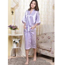 Wholesale-Light Purple Chinese Women Rayon Robe Sexy Lingerie Summer Lounge  Kimono Nightgown Sleepwear Plus Size S M L XL XXL XXXL 160404 d6672c3c4