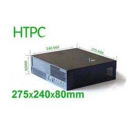 Vente en gros - Boîtier HTPC, Mini-ITX, 275 * 240 * 80mm, alimentation 1U, acier 0.8mm, boîtier de l'ordinateur multimédia familial, CEMO 0710