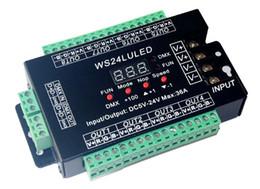 $enCountryForm.capitalKeyWord UK - 5 pieces free shiping 24CH dmx512 Controller, decoder,24 channel 8 groups RGB output,DC5V-24V for LED strip light, RGB dump node,LED module