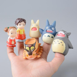 japanese mini figures Canada - TOTORO Action Figure Kids Toys Japanese Studio Ghibli Miyazaki Hayao Anime PVC Mini Set Finger Puppets Toy Figuras Children doll