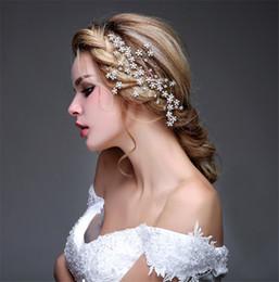 Gold vines online shopping - beijia Generous Gold Crystal Flower Hair Comb Bridal Hair Vine Accessories Handmade Wedding Jewelry Headpiece Women Headwear