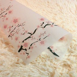 Chinese  Wholesale 100pcs lot Packaging Paper For Handmade Soap Tissue Wax Paper Printed Greaseproof Paper Wintersweet Flower Free Shipping manufacturers