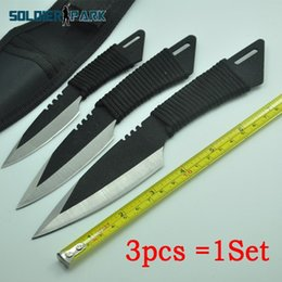 $enCountryForm.capitalKeyWord NZ - 3Piece set Stainless Steel Outdoor Camping Knife Travel Tool Tactical Safety Pocket Hunting Survival Knives Fixed Blade Razor* order<$18no t