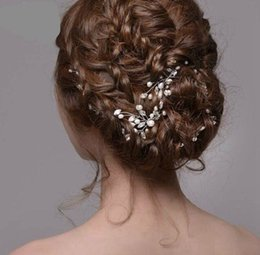 $enCountryForm.capitalKeyWord NZ - Fashion Jewelry Pearl Rhinestone Hair Pins plug wedding bride headdress handmade jewelry small hairpin wedding accessories other headdress