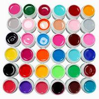 Pot De Vernis De Gel Pas Cher-36 Pots Pure Color Decor Gel UV Vernis à ongles Excellent ongle Gel Manicure Profession Outils de maquillage