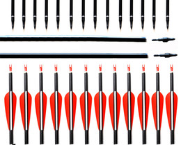 $enCountryForm.capitalKeyWord NZ - New Spine 500 Carbon Arrow With Replaceable Arrowhead 28 30 31 Inches Length Archery Arrows for Compound Recurve Bow Hunting
