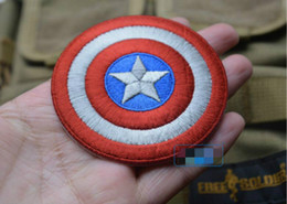 Avengers bAdges online shopping - VP inch Captain America Embroidered patch with magic stick pvc Tactical D Patches for cap The Avengers Badges Fabric Armband