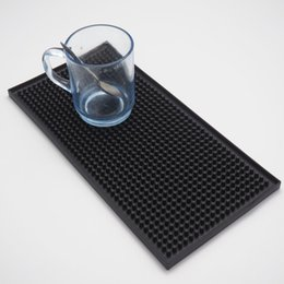 $enCountryForm.capitalKeyWord UK - 1Pcs 11.8inch Rectangle Rubber Beer Bar Service Spill Mat for table 30cm black waterproof pvc mat kitchen glass coaster placemat