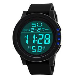 Discount blue water sports - Fashion Luxury Brand Watch Adult Student Electronic Wristwatch Large Screen LED Sports Waterproof Watch Chronograph Watc