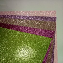 Pink Gift Wrapping Paper Canada - China Glitter Card Stock Paper Gift Wrapping Paper For Decoration