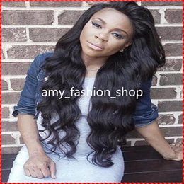 brown auburn half wigs Australia - Top quality hair human hair full lace wigs supply 7A grade human hair wig