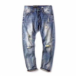 Ship funding online shopping - The high quality new fund of autumn winters Men s clothes depth of water to wash Casual long hold denim jeans