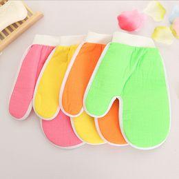 Gloves Bath Rub NZ - High Quality Multi-colors Thicker Bath Body Rub Mitts Gloves Bath Massage Tool Bath Cloths