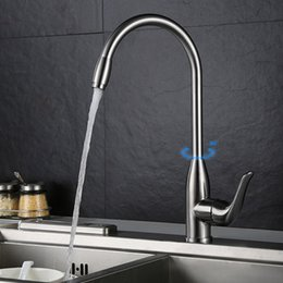 2017 Modern Kitchen Faucets Stainless Steel Brushed Kitchen Faucet Basin Modern  Kitchen Mixer Tap 304 Stainless