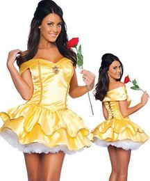 Costume Tutu De Taille Plus Pas Cher-Gros-Plus Size Sexy Maid Costume Français Jaune Bustier Tutu Pricess Robe Déguisement Halloween Cosplay Snow White Costume XXLCE342