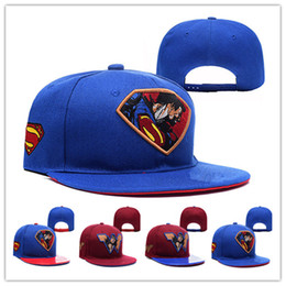 Cartoon Flat Brim Hats Canada - Wholesale Street Hero flat-brim hats  Superman Snapback hats f320aab3a1f7