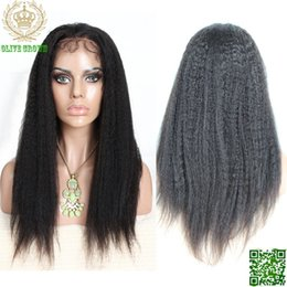 $enCountryForm.capitalKeyWord NZ - Kinky Straight Human Hair Full Lace Wigs Brazilian Glueless Lace Front Human Hair Wig With Baby Hair Natural Black