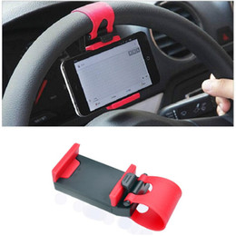 Discount pda mobile phones - 200pcs Universal Car Steering Wheel Mobile Phone Holder Elastic Design iPhone Holder Stand For Smart Phone GPS MP4 PDA Z