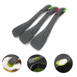 Skimmer tool online shopping - Multi function Cooking Tools Nylon Turner Spatula With Serrated Divider Skimmer Slotted Spoon Scoop Kitchen Utensils LZ0106