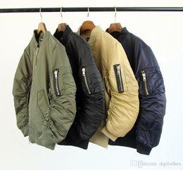 Discount Men Cardigan Bomber Pilot Sweater Coat   2017 Men ...
