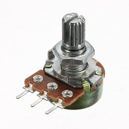 with Screws Handle Length 15mm Official Website Wh148 250k 254 Three Feet 15mm Handle Long Horizontal B250k Single Potentiometer