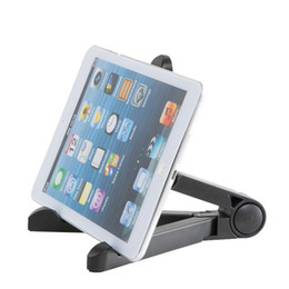 folding tablet stand for iphone UK - Universal Desktop Adjustable Fold-Up Stand Holder Flexible Portable Tablet Mount Bracket For iPhone Samsung iPad Mini Tablet PC