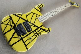 Guitar finGerboards online shopping - High Quality Yellow Eddie Van Halen Maple Fingerboard Electric Guitar