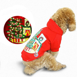 Glow Costumes Canada - Autumn Small Medium Pet Dog Winter Glowing Hoodie LED Light Up Christmas Dogs Coat Free Shipping