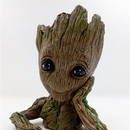 """$enCountryForm.capitalKeyWord NZ - 2 Styles Guardians of The Galaxy Vol. 2 Baby Groot 7"""" Figure Flowerpot Style Toy Gift AND Push Bomb Button Figure"""