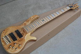 $enCountryForm.capitalKeyWord Australia - Rare Fodera 6 Strings Burl Spalted Birds Eye Maple Top Electric Bass Guitar Maple Neck White Pearl Block Inlay Active Pickups 9V Battery Box