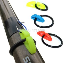 Bait Rods Canada - 5pcs pack U-hanger Hang Hooks Safe Accessories for Lure Hard Bait on Fishing Rods Napier Ring Tackle Box