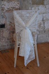 $enCountryForm.capitalKeyWord Australia - New Arrival Lace Crystal Romantic Beautiful Classic Wedding Supplies Wedding Events Beautiful Chair Cover Chair Sash
