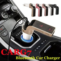 Discount music box mp4 player Cheapest 200pcs CAR G7 Bluetooth FM Transmitter MP3 With TF USB flash drives Music Player SD and USB Charger Features co