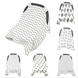 Muslin Baby Car Seat Canopy Ins Cotton Carseat Covers Newborn Stroller Cover Breastfeed Nursing Pushchair Case Blankets OOA2787